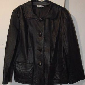 Pendleton Plus Brown  Leather Jacket